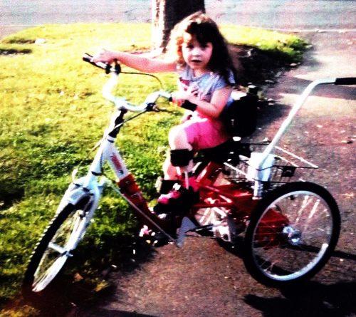 Scarlett with her trike