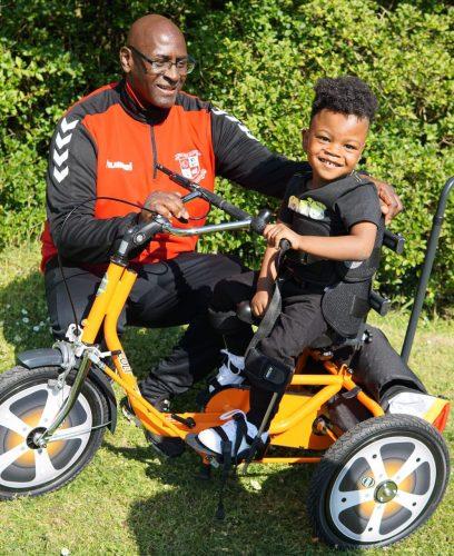 Romain with his grandad