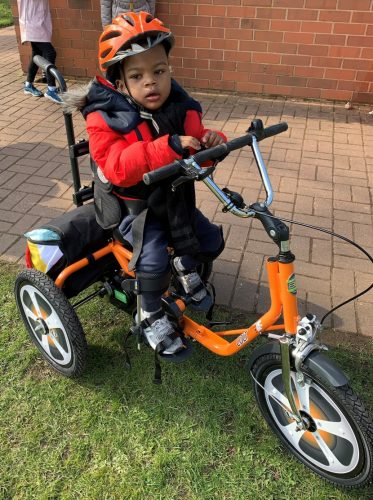 Romain with his new trike